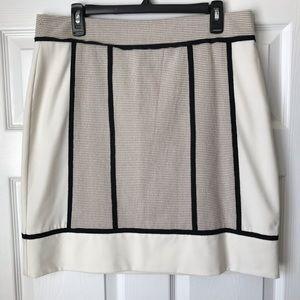Ann Taylor Skirts - Ann Taylor cream black trim textured skirt